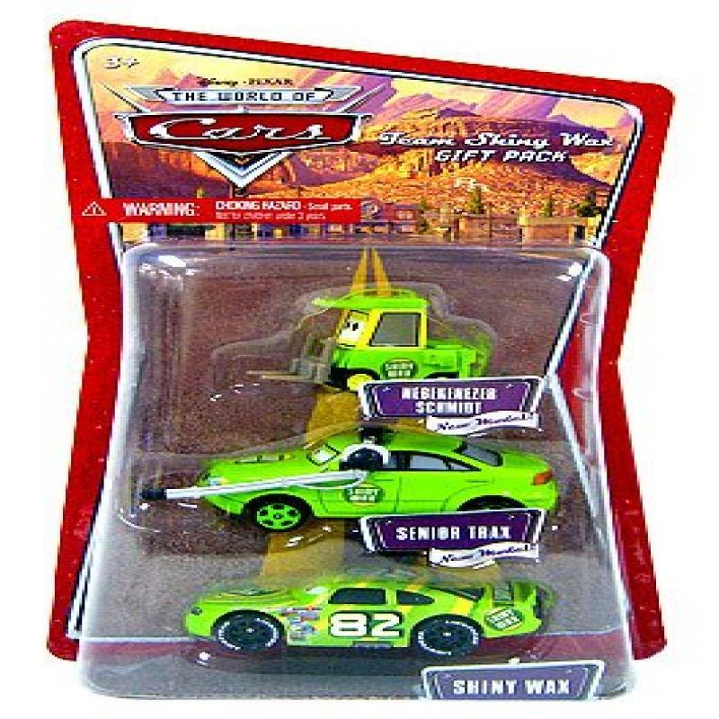 Disney   Pixar CARS 1:55 Die Cast Figure 3-Pack Team Shiny Wax (Nebekenezer Schmidt,... by