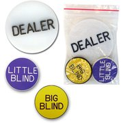 Acrylic Dealer Button – Engraved Professional Casino Table Accessory for Poker, Texas Hold-Em, Blackjack and Other Card Games by Trademark Poker