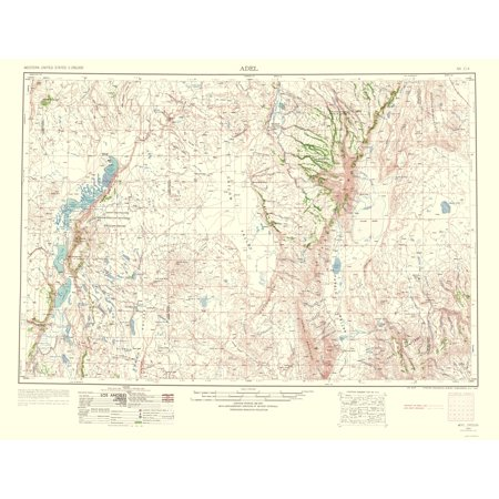 Old Topographical Map Print   Adel Oregon Quad   Usgs 1963   23 X 30 02