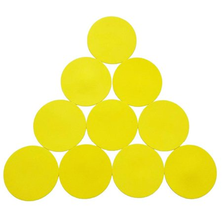 Oci FMK10Y Sports Invasion Rubber Disc Spot Marker Set, - Poly Spot Markers
