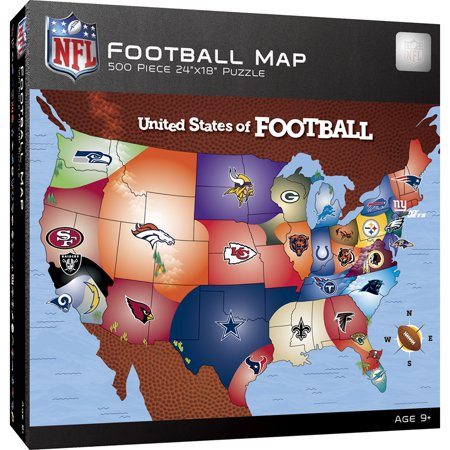 Nfl Football Map 500 Piece Jigsaw Puzzle Walmartcom - Us-map-nfl-teams