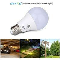 TOPCHANCES 7W E27 Dusk to Dawn Energy Save Smart Automatic Sensor LED Ball Bulbs, Cool White 6000K