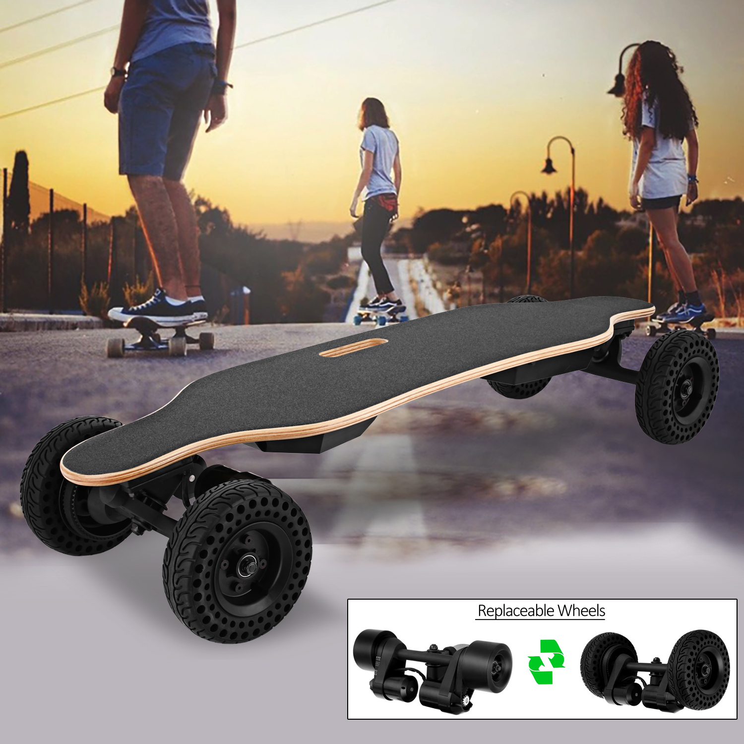 New 37inch SUV-Longboard Electric Skateboard with Wireless Handheld Remote Control (2 Ride models for change )HDPML by