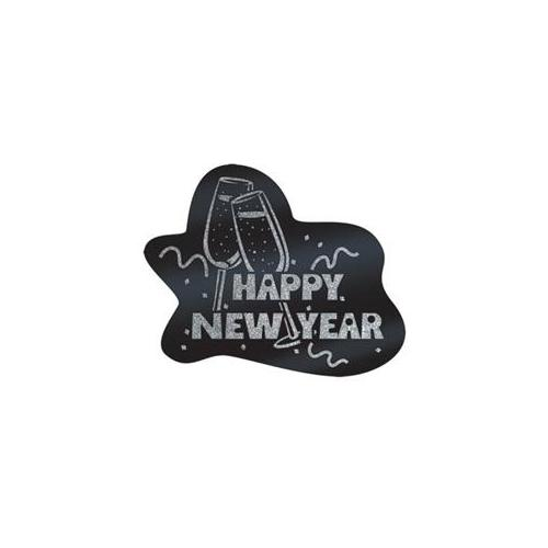 Beistle - 88966-BKS - Glittered Happy New Year Sign- Pack of 12