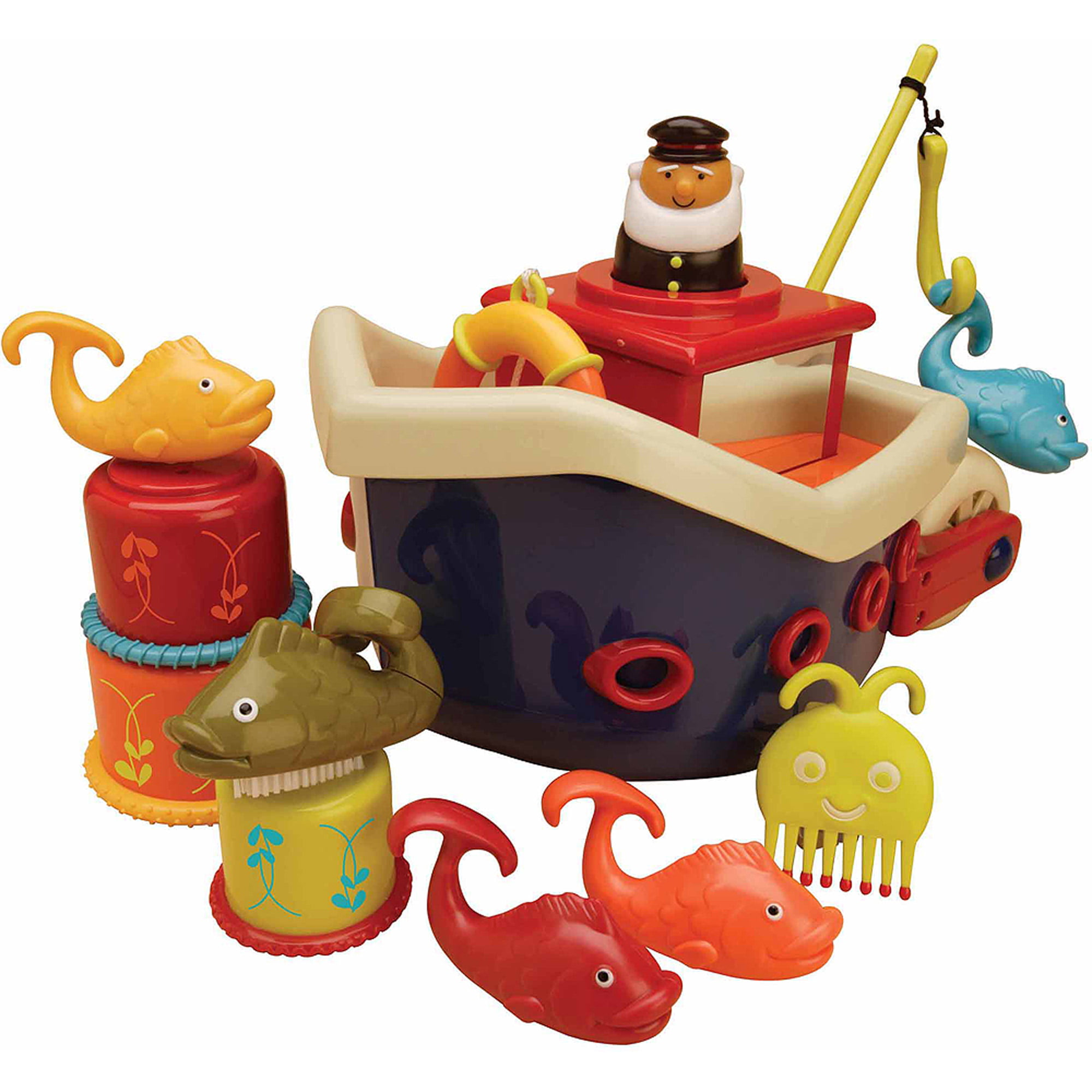Battat B. Fish and Splish Boat Bath Toy by Battat