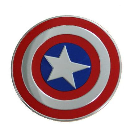 Officially Licensed, Marvel Comics Retro Captain America Shield B Metal Sticker, 5cm](Marvel Stickers)