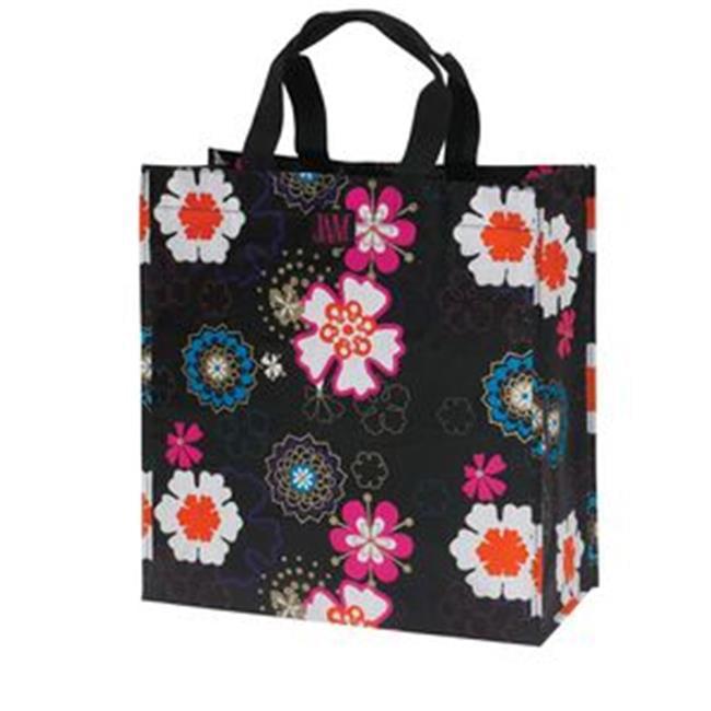 Joann Marrie Designs P2SBBFP Polypropylene Shopping Bag - Black Flower Power - image 1 of 1
