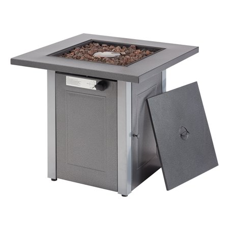 """Mainstays 28"""" Belding Steel Propane Outdoor Square Fire Pit"""