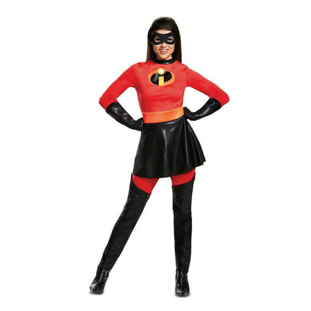 Mrs Incredible Costume Small (Women's Plus Size Mrs. Incredible Skirted Deluxe Costume - The Incredibles)