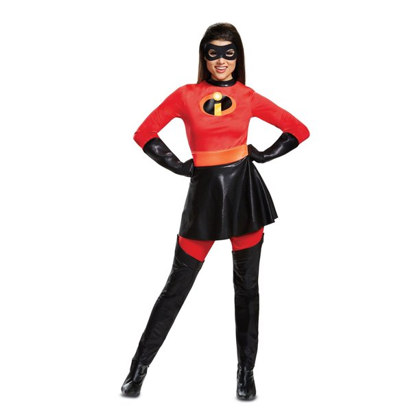 Women S Plus Size Mrs Incredible Skirted Deluxe Costume The Incredibles 2 Walmart Com Walmart Com