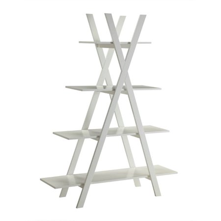 Pemberly Row 4 Shelf Bookcase in White - image 2 of 3