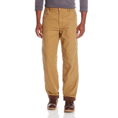 Mens 38X30 Fleece Lined Carpenter Pants Stretch 38