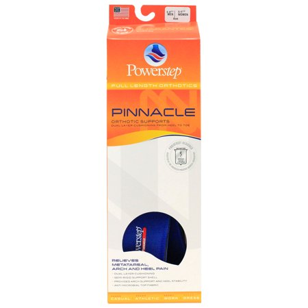 Powerstep Pinnacle Full Length Orthotic Insoles - As, M 3-3.5, W