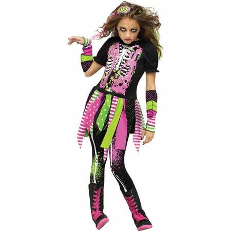 Neon Zombie Child Halloween Costume - Zombie School Girl Halloween Costumes