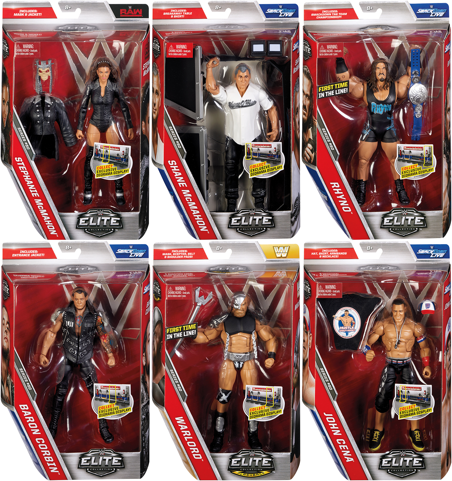 Wwe Elite 50 Complete Set Of 6 Toy Wrestling Action Figures