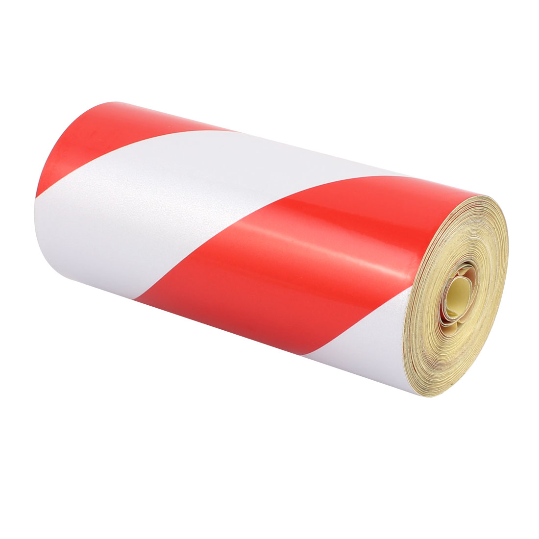 15cm x 15M Single Sided Adhesive Reflective  Warning Tape Tilt Red White - image 3 de 3