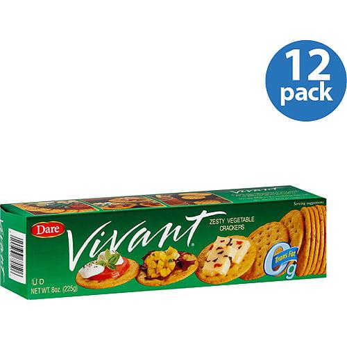 Vivant Zesty Vegetable Crackers, 8 oz, (Pack of 12)