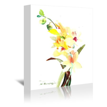 Americanflat  'Orchids Light' Gallery Wrapped Canvas