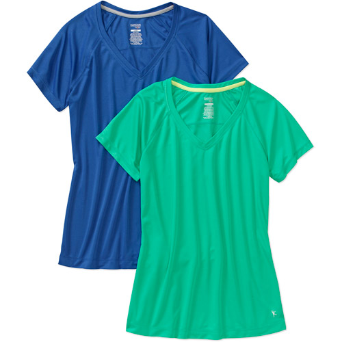 Danskin Now Women's Poly T-Shirt, 2-Pack