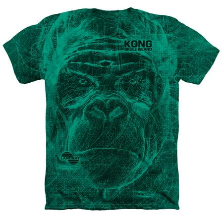 Kong Skull Island Landsat Mens Heather Poly Cotton Shirt