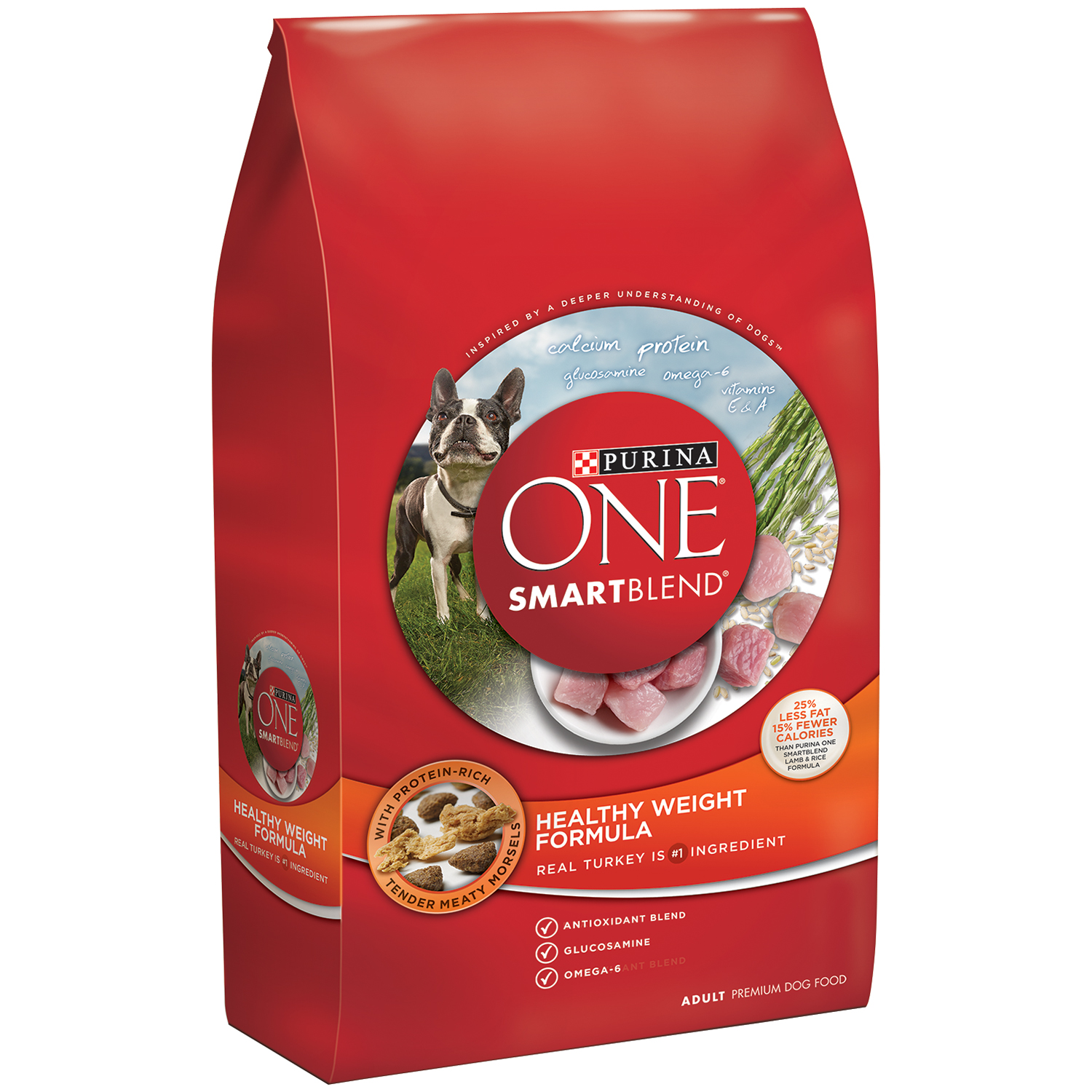 Purina ONE SmartBlend Healthy Weight Formula Adult Premium Dog Food 8 lb. Bag