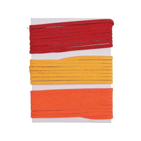 Fun Express - Fall Suede Cording for Fall - Craft Supplies - Adult Beading - Beading Supplies - Fall - 1 Piece - Crafts For Fall