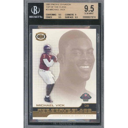 2001 Pacific Toc  23 Michael Vick Rc Rookie Bgs 9 5