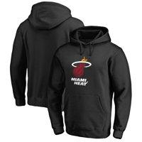 Miami Heat Primary Logo Pullover Hoodie - Black