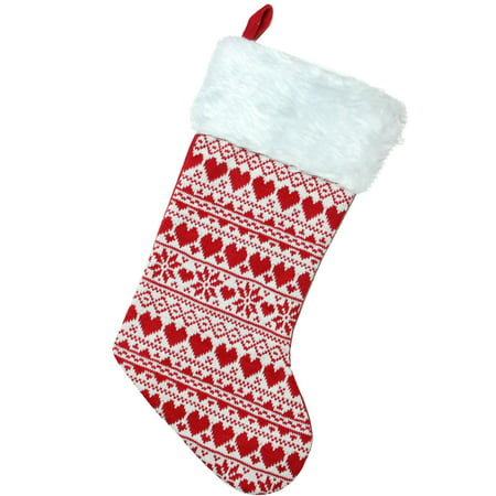 Red And White Christmas Stocking (19.5