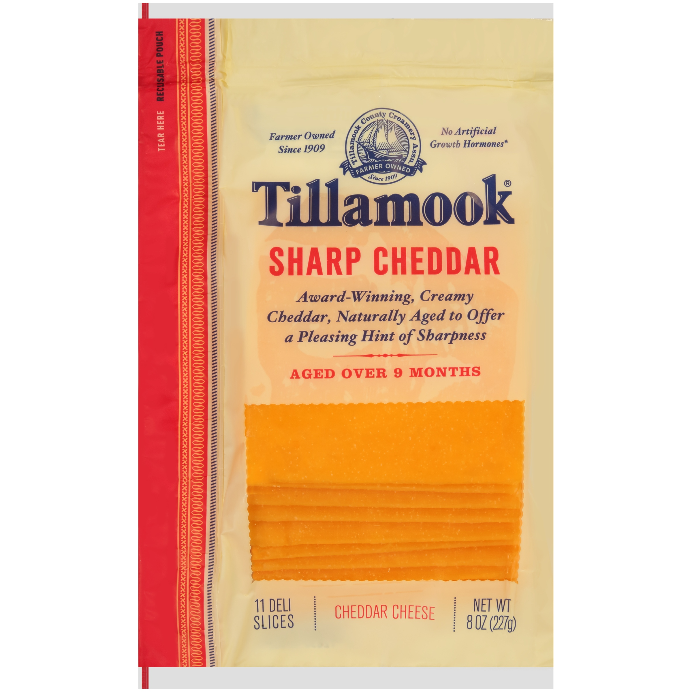 Tillamook® Natural Sharp Cheddar Cheese Deli Slices 11 ct Bag