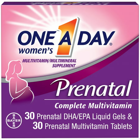 One A Day Women's Prenatal Multivitamin Two Pill Formula, Supplement for Before, During, and Post Pregnancy, Including Vitamins A, C, D, E, B6, B12, Folic Acid, and Omega-3 DHA, 30+30 (The Best Prenatal Vitamins Before Pregnancy)