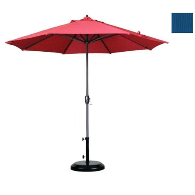 California Umbrella 9 ft.  Aluminum Market Umbrella Auto Tilt Crank Lift -Olefin
