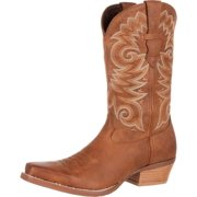 "durango western boots mens 12"" gambler light square toe brown ddb0072"