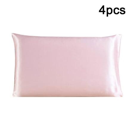 4 Pcs Pillow Cases Pillowcases / Pillow Covers 100% PURE