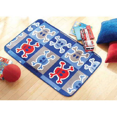 "Mainstays Kids' Royal Plush Skull Accent Rug, 36"" x 56"""