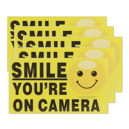 5pcs Vinyl Smile You're On Camera Sticker 3.5