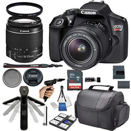 17 Mm Camera Head (Canon EOS Rebel T6 DSLR Camera w/ 18-55mm Lens + 32GB Card + Photo Accessory 17 Piece Bundle)