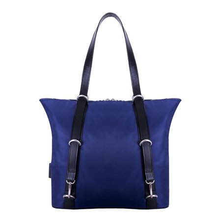 McKlein DYLAN, 3-In-1 Convertible Backpack Tote, Nano Tech-Light Nylon with Leather Trim, Navy (18487) - Navy Backpacks