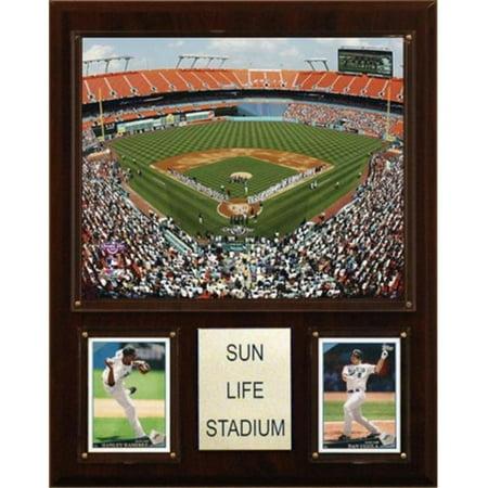 C&I Collectables MLB 12x15 Sun Life Stadium Stadium - Sun Life Stadium Halloween