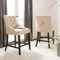 Terrific Beige Safavieh All Bar Stools Counter Stools Walmart Com Lamtechconsult Wood Chair Design Ideas Lamtechconsultcom