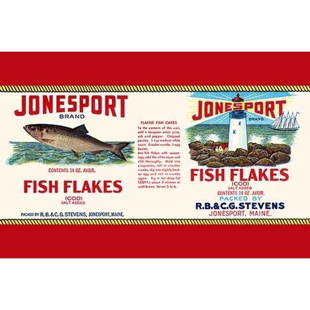 Jonesport Fish Flakes Poster Print By Unknown 24 X 36 Walmart Com Walmart Com