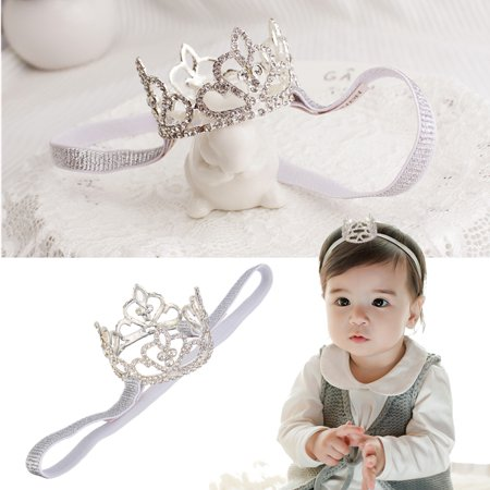 Luckyfine Toddler Girls Baby Rhinestone Crown Princess Tiara Headband for Wedding,Birthday,Party,Photography Props - Girl Crowns