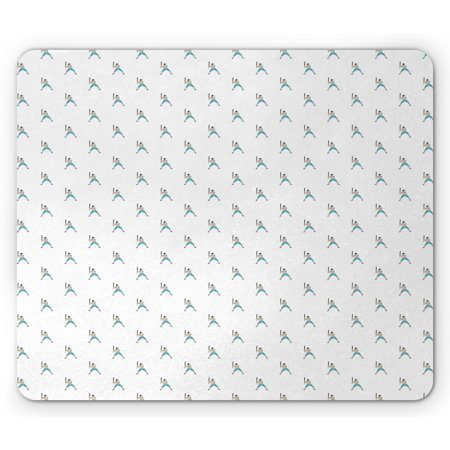 Baseball Mouse Pad, Professional Player Batter Pattern Outdoor Sports Theme Digital Graphic Design, Rectangle Non-Slip Rubber Mousepad, Multicolor, by Ambesonne Professional Multi Format Player