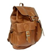Backpack w Large Drawstring Compartment in Saddle