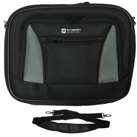 Lenovo IBM Thinkpad T400 2764 Laptop Case Carry Handle & Adjustable Shoulder Strap - Black/Gray - Adjustable & Removable Interior Divider - Ibm Thinkpad Case