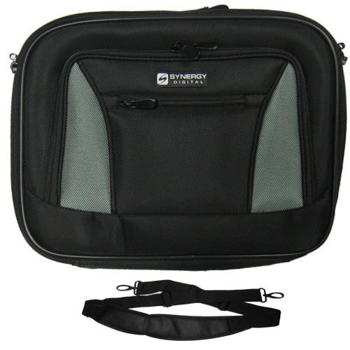 Lenovo IBM Thinkpad T400 2764 Laptop Case Carry Handle & Adjustable Shoulder Strap - Black/Gray - Adjustable & Removable Interior Divider