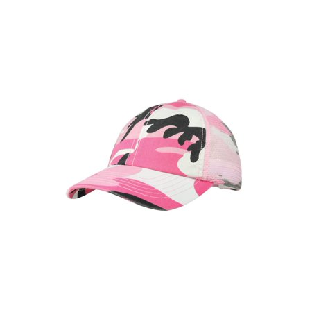 98836f5920fb7 Enzyme Washed Camouflage Mesh Cap - Walmart.com