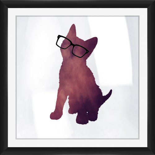 PTM Galaxy Cat Framed Graphic Art Print