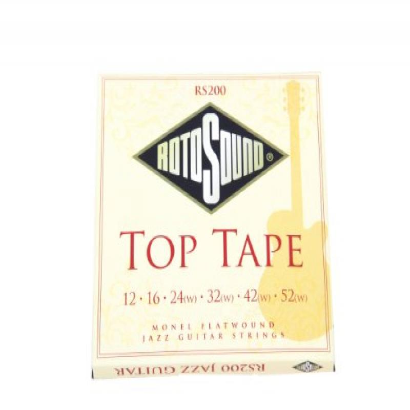 Rotosound RS200 Top Tape Monel Flatwound Electric Guitar String (12 16 24 32 42 52) by