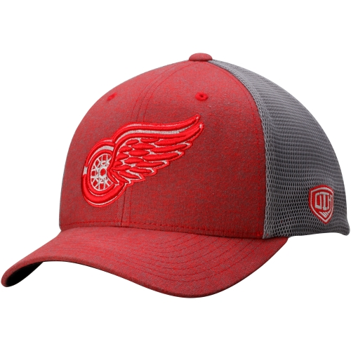 Detroit Red Wings Old Time Hockey Duster Mesh Back Structured Flex Hat - Red - OSFA